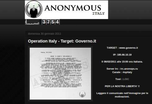 Febbraio 2011 il post viola pagina 5 for Sito governo italiano